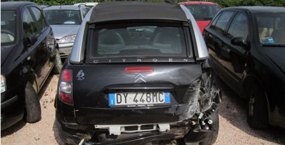 CITROEN C3 PLURIE NERA ANNO 2009 INCIDENTATA